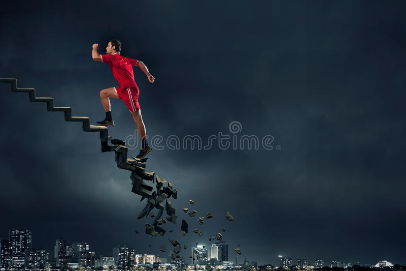Up to top overcoming challenges royalty free stock images