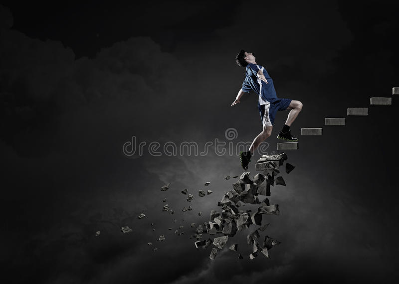 Up to top overcoming challenges royalty free stock image