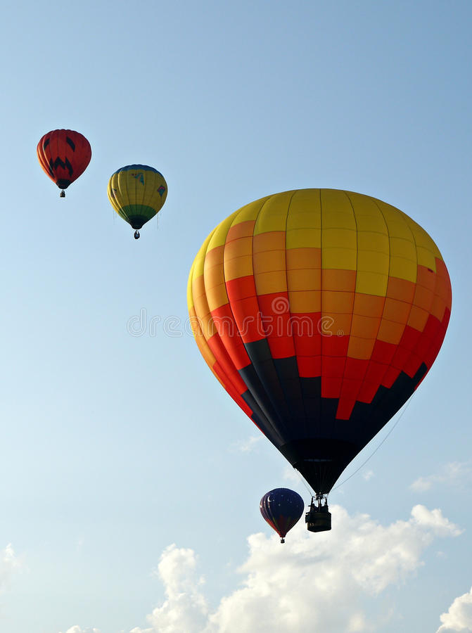 Up, Up and Away - Hot Air Balloons stock images