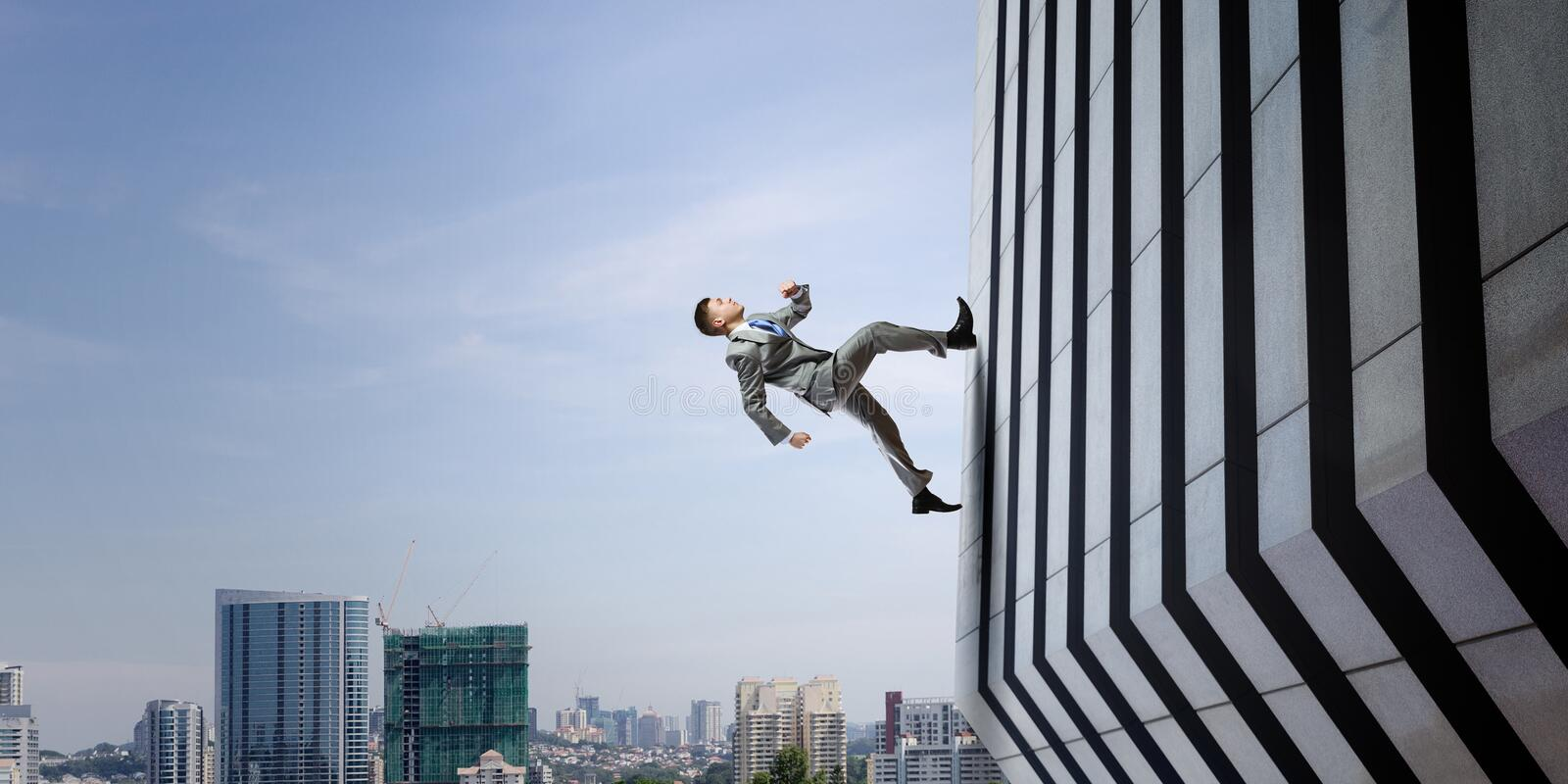 Up and up to the top. Mixed media royalty free stock photography