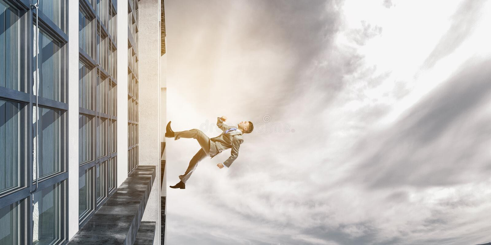 Up and up to the top. Mixed media royalty free stock photos