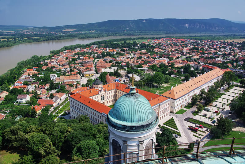 Up view of Esztergom. In Hungary. Picture taken from Esztergom basilica royalty free stock photography