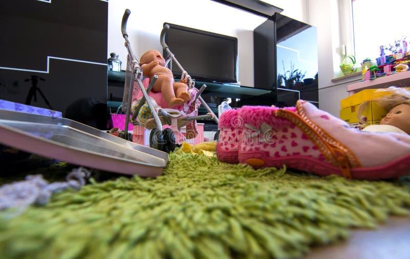 Upaćkany żywy pokój zdjęcie royalty free