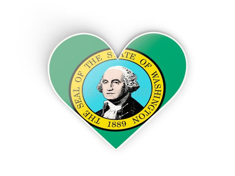 Upał z flaga Washington Zlane stanu miejscowego flaga ilustracja wektor