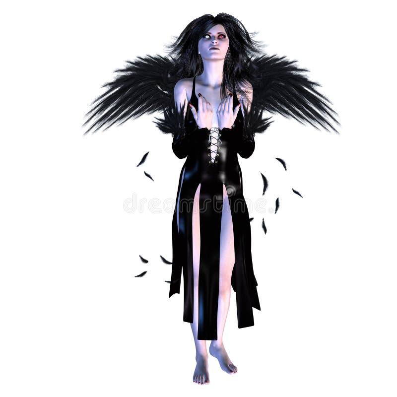 upadły anioł ilustracja wektor