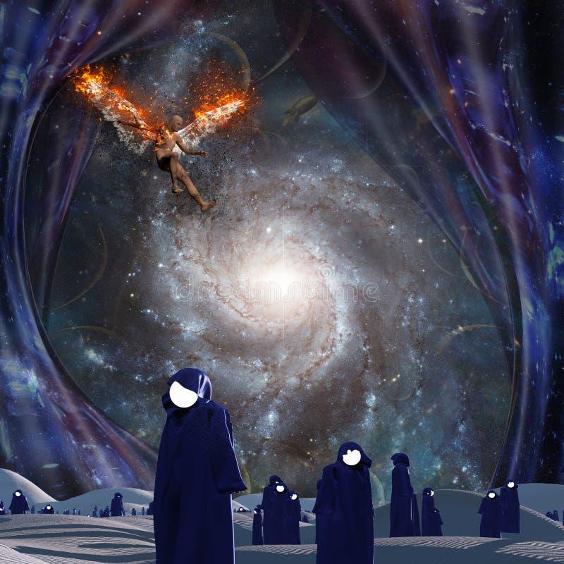 upadły anioł royalty ilustracja