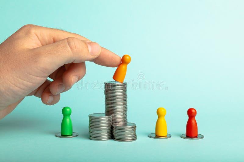 Upadek i problemy finansowe, ubóstwo i upadek obrazy royalty free