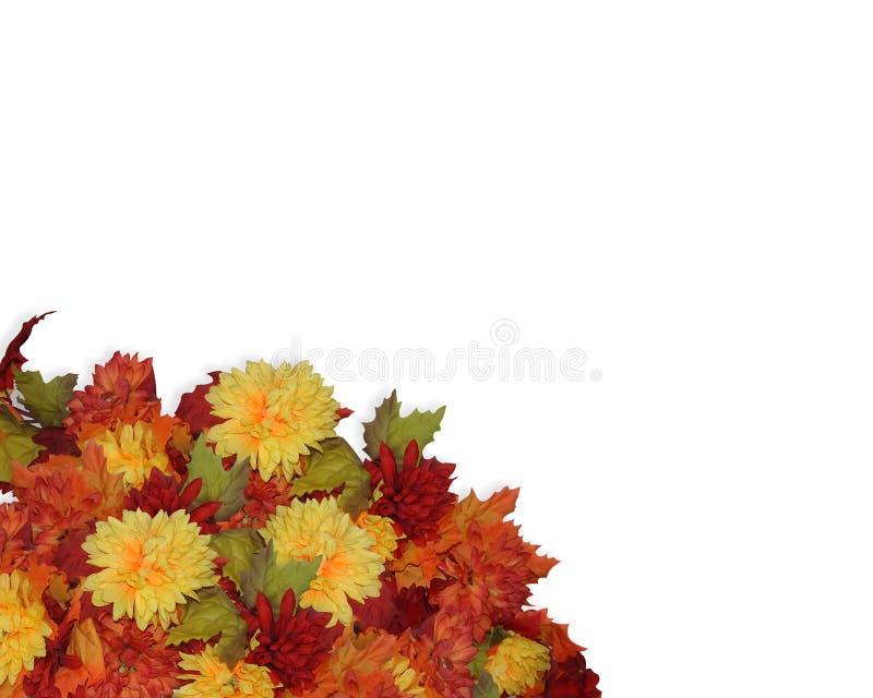 upadek na róg kwiaty Święto dziękczynienia royalty ilustracja
