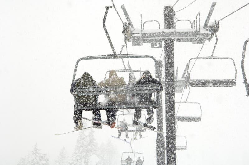 upadek narciarstwa śnieg fotografia stock