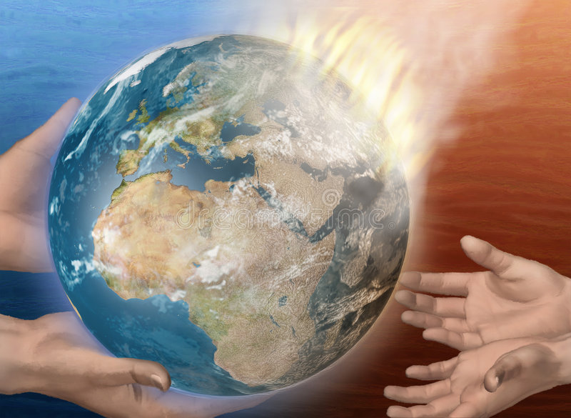 upadek ziemi. ilustracji