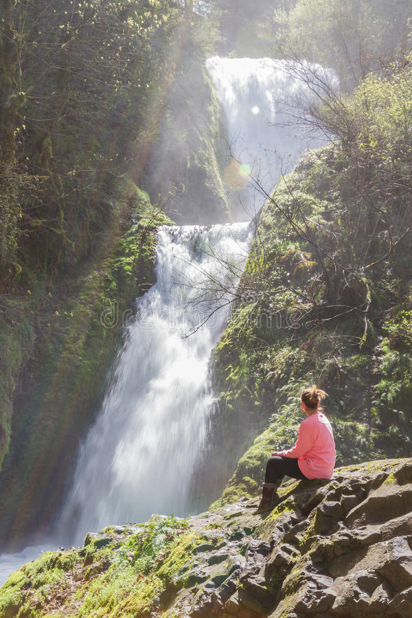 upadku ślubne Oregon welon zdjęcia stock