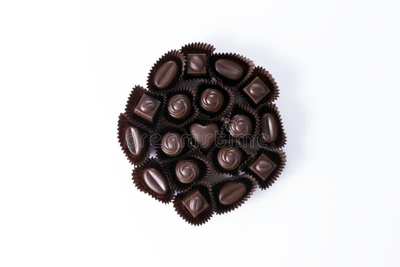 Upakowane gorzkie czekolady obraz stock