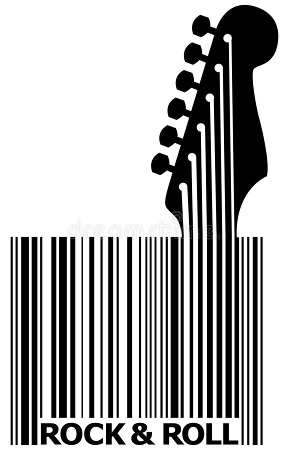 Free UPC Barcode With Guitar Royalty Free Stock Photography - 7568697