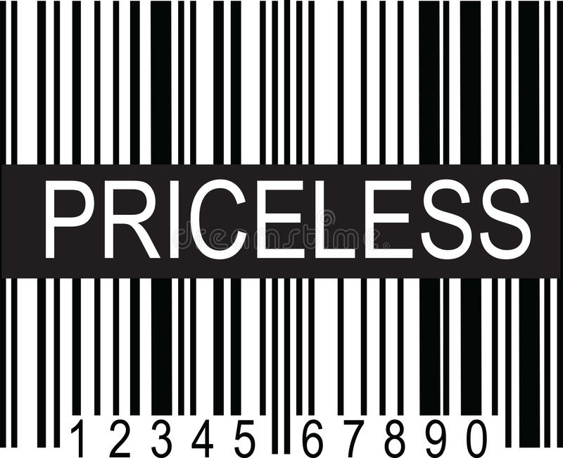 Upc Code Priceless stock illustration