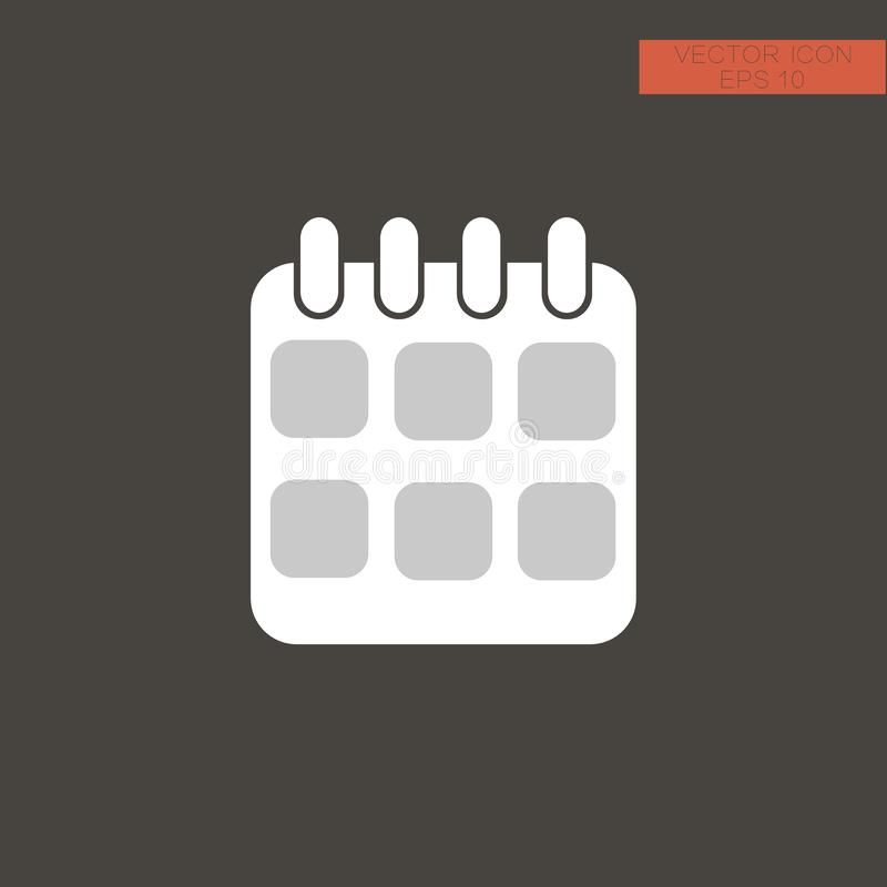 Upcoming event icon, flat sign. Black simple Upcoming icon, flat sign stock photography