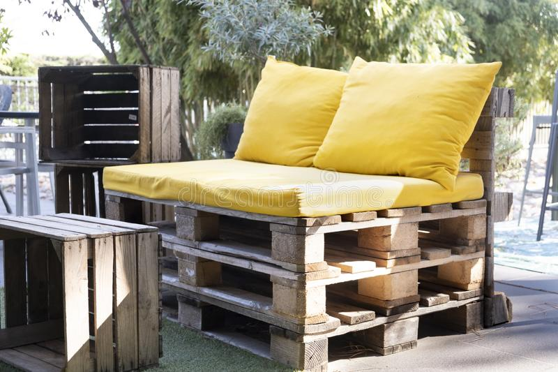 Sensational Furniture Made Pallets Stock Photos Download 98 Royalty Gmtry Best Dining Table And Chair Ideas Images Gmtryco