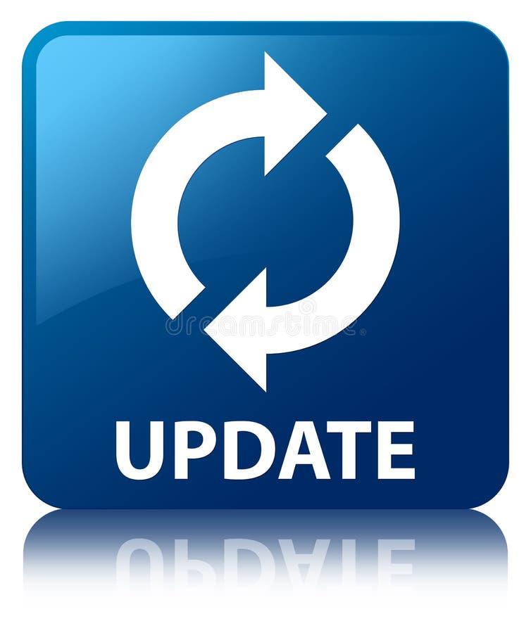 update blue square button stock illustration illustration