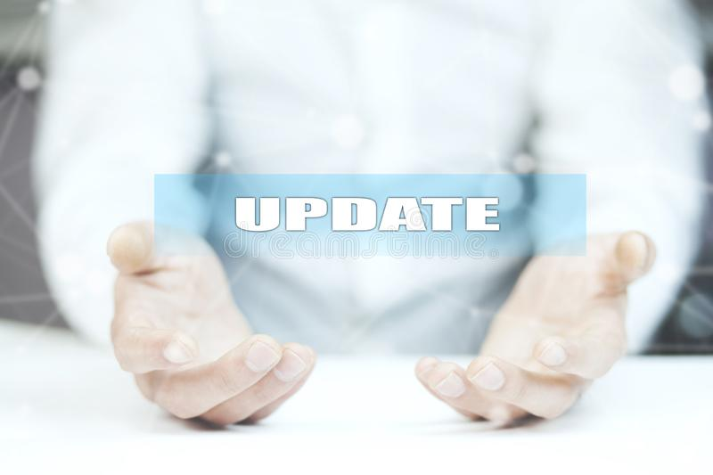 Update- business, technology and internet concept royalty free stock photography