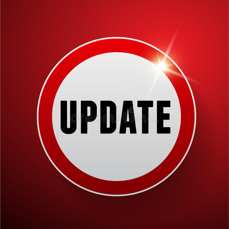 Update button vector red royalty free illustration