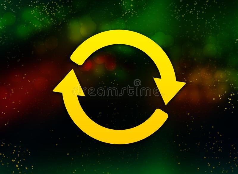 Update icon abstract bokeh dark background royalty free illustration
