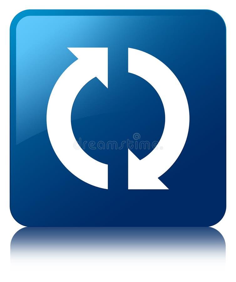 update icon blue square button stock illustration