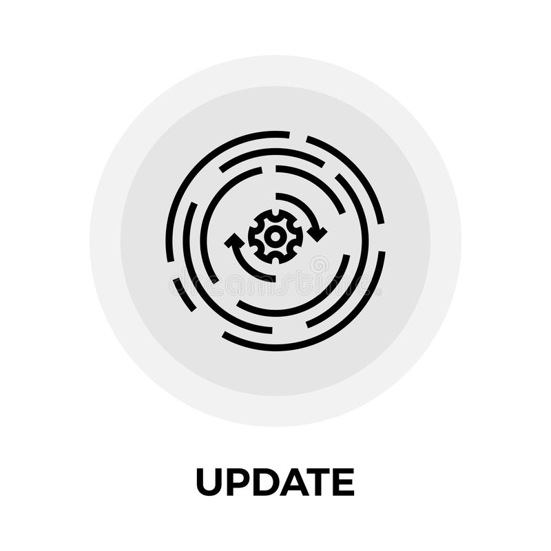 Update Line Icon stock illustration