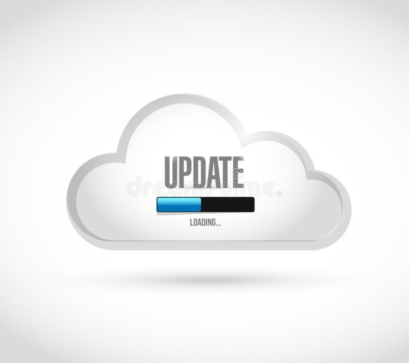 Update loading bar cloud illustration. Design over a white background royalty free illustration
