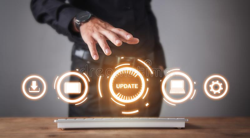 Update Program. Business, Technology, Internet concept stock image