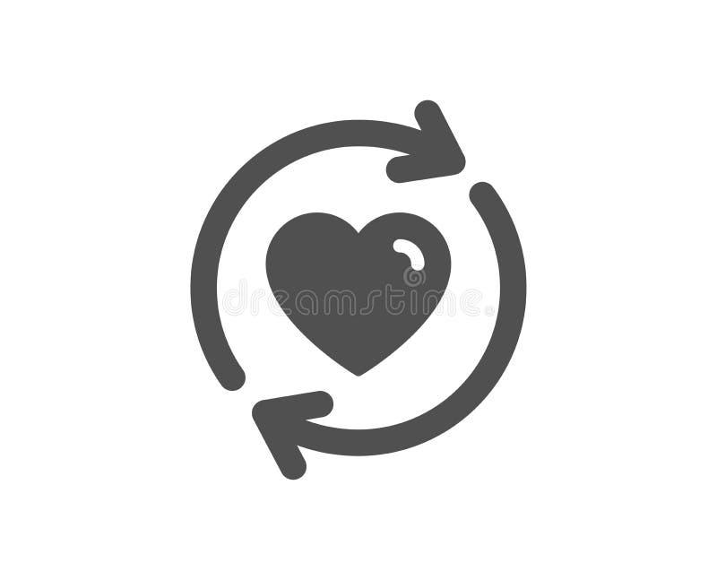 Update relationships icon. Love symbol. Vector vector illustration
