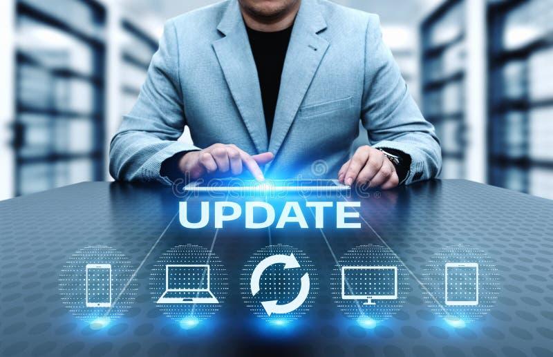 Update Software Computer Program Upgrade Business technology Internet Concept stock images