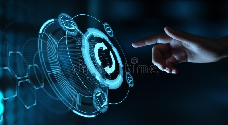 Update Software Computer Program Upgrade Business technology Internet Concept royalty free stock photography