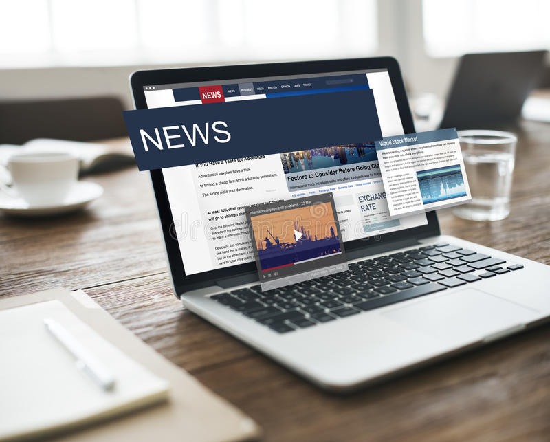 Update Trends Report News Flash Concept stock photo