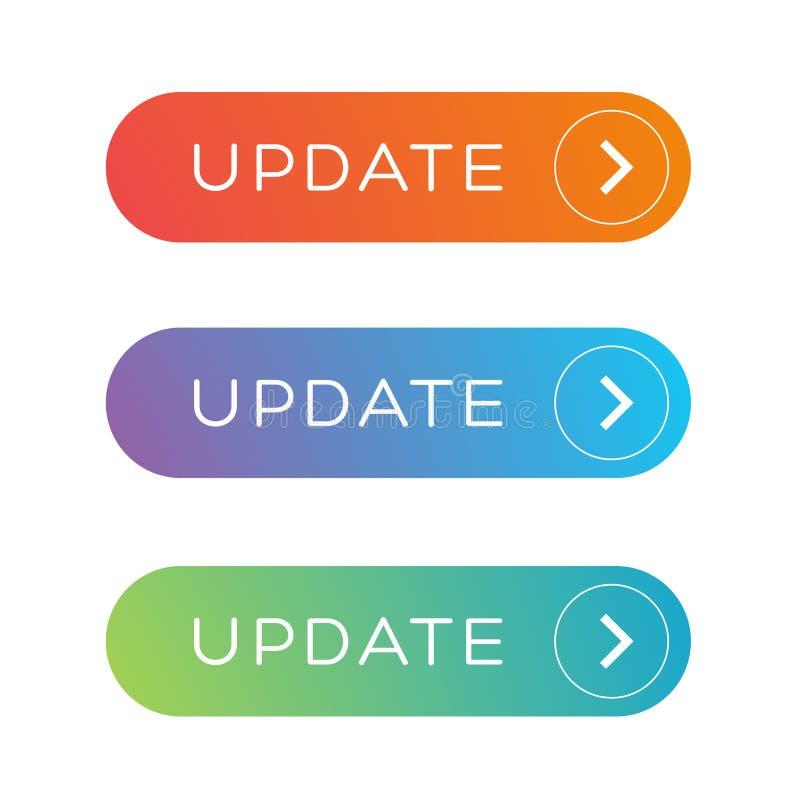 Update Web button set royalty free illustration