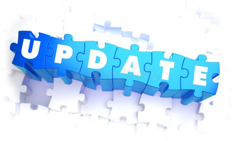 Update - Word in Blue Color on Volume Puzzle. 3D Illustration royalty free illustration