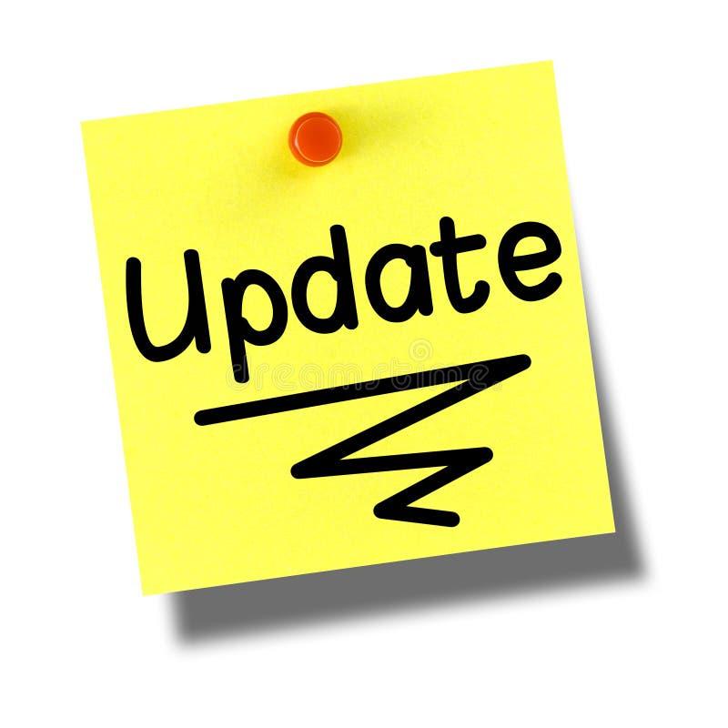Update Yellow Post-it Pushpin White stock image