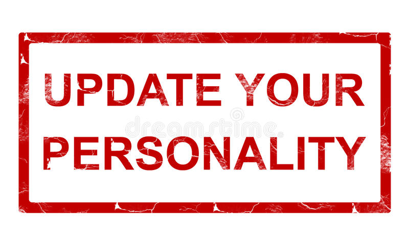 Update your personality stamp royalty free illustration