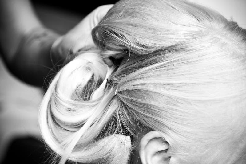 Updo dei capelli fotografie stock