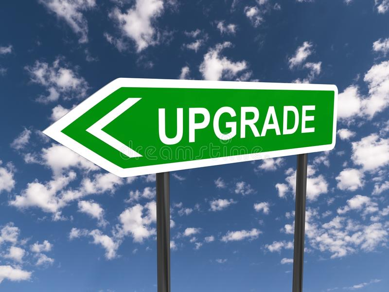 Upgrade stock illustration