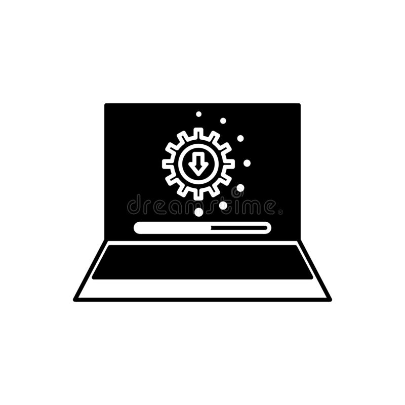 Black solid icon for Upgrade, advancement and development. Black solid icon for Upgrade, improvement, miscellaneous,  advancement and development royalty free illustration