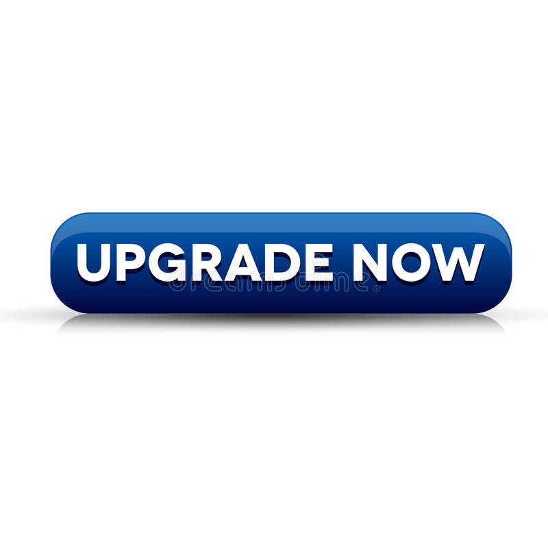 Upgrade now button blue royalty free illustration