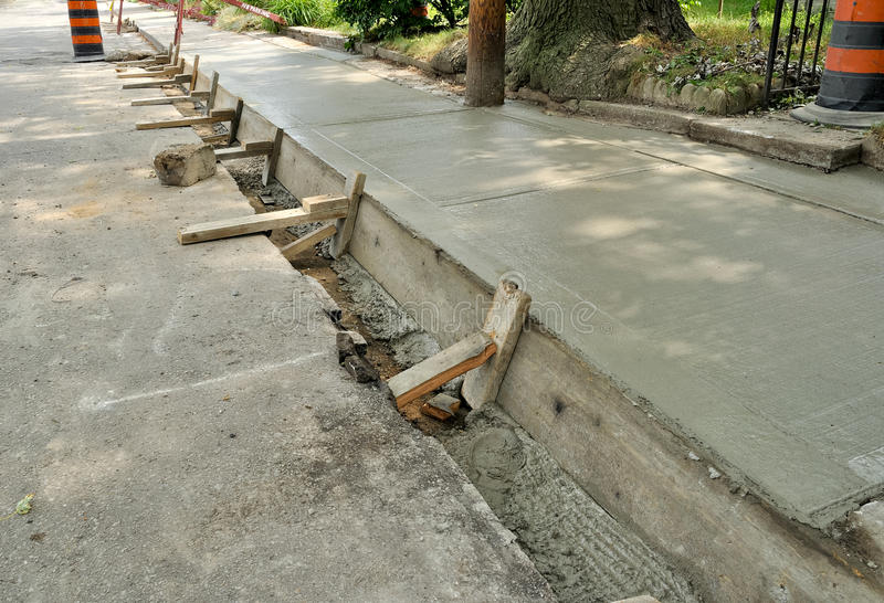 Upgrade to sidewalk stock photography