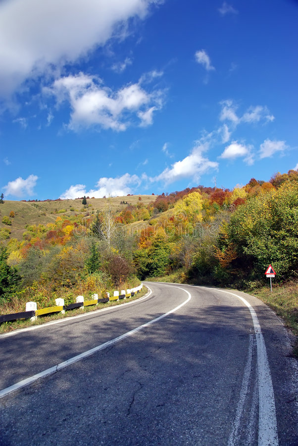 Download Uphill street stock image. Image of forest, nice, romania - 6724525