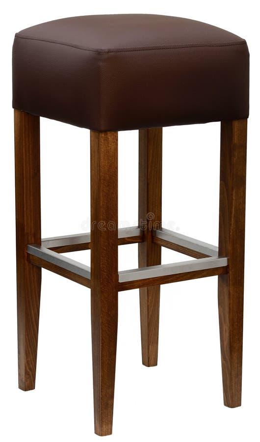 Upholstered barstool stock photo