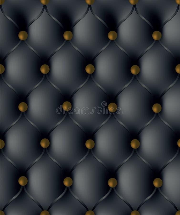 Upholstery de couro ilustração stock