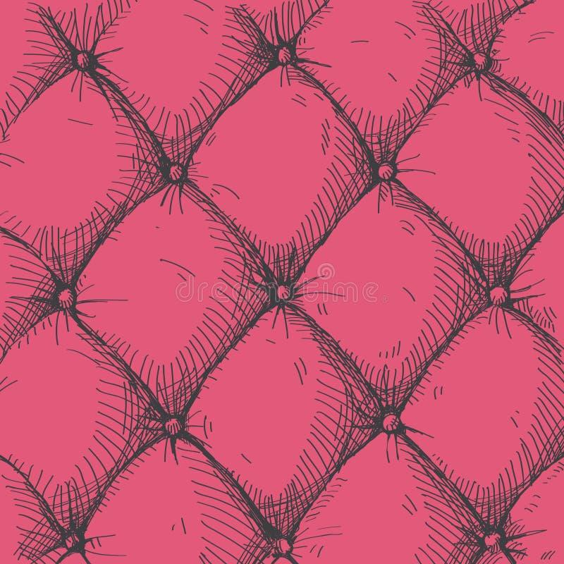 Upholstery de couro ilustração do vetor