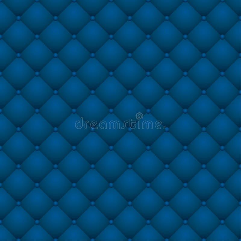 Upholstery de couro azul ilustração do vetor