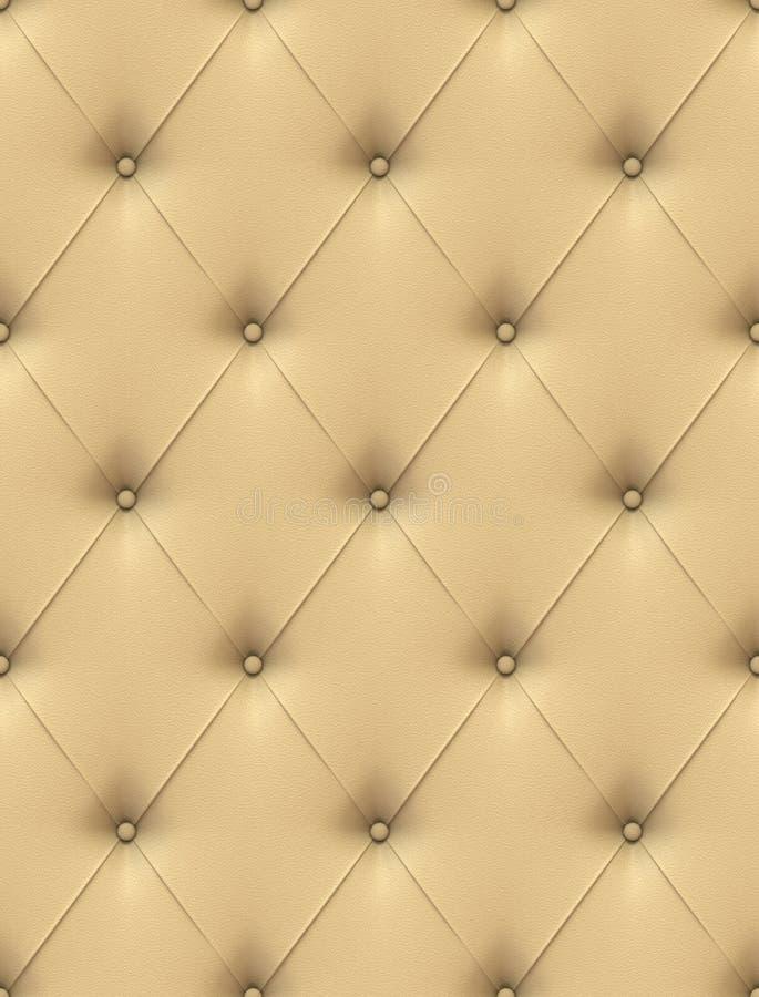 Upholstery de couro bege ilustração do vetor