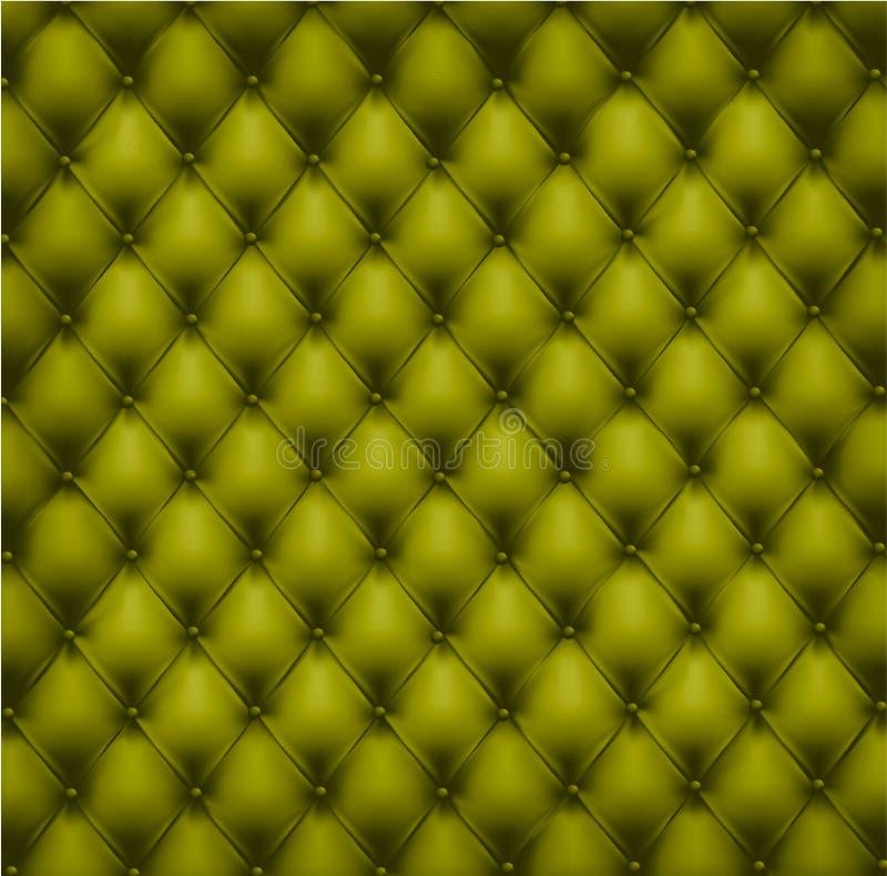 Upholstery de couro verde. Vetor. ilustração do vetor