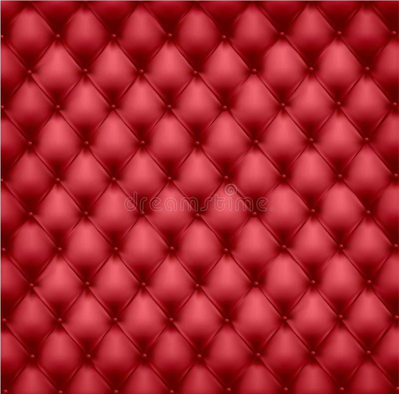 Upholstery de couro vermelho. ilustração do vetor