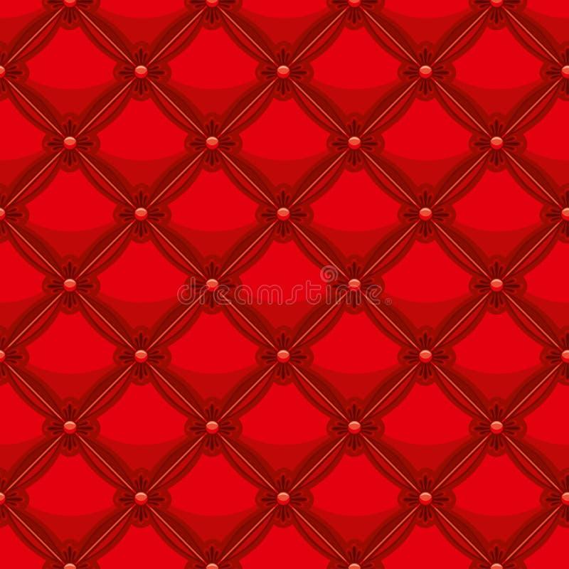 Upholstery de couro vermelho ilustração royalty free